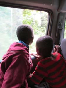 two boys window